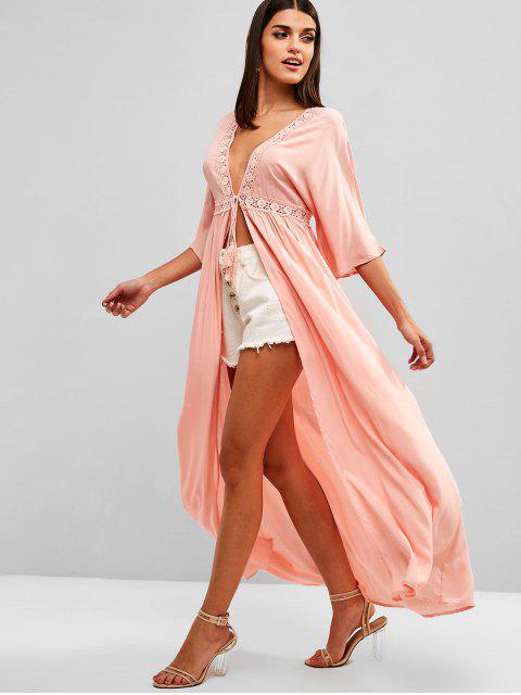 Vestido Saída de Praia Comprida Praia - Rosa Laranja L Mobile