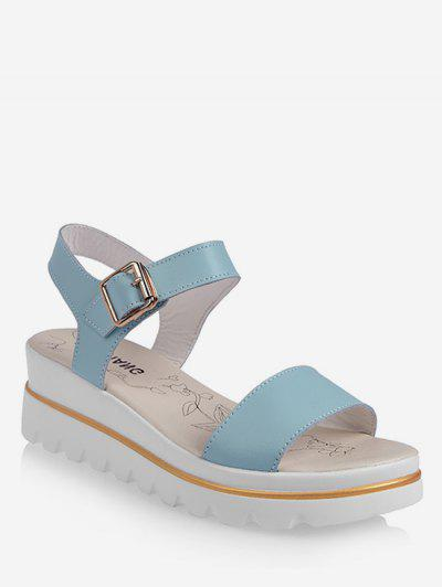 319a6cf2f Leisure Breathable Platform Sandals - Slate Blue Eu 40 ...