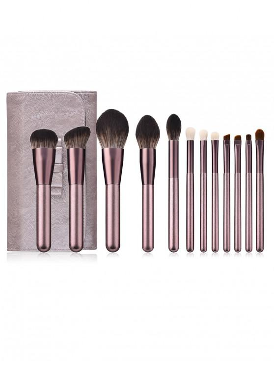 Portable Makeup Brushes with Bag PURPLE