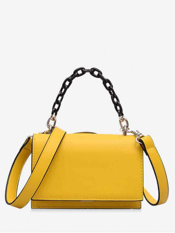chic Rectangle Cover Chain Handbag - RUBBER DUCKY YELLOW