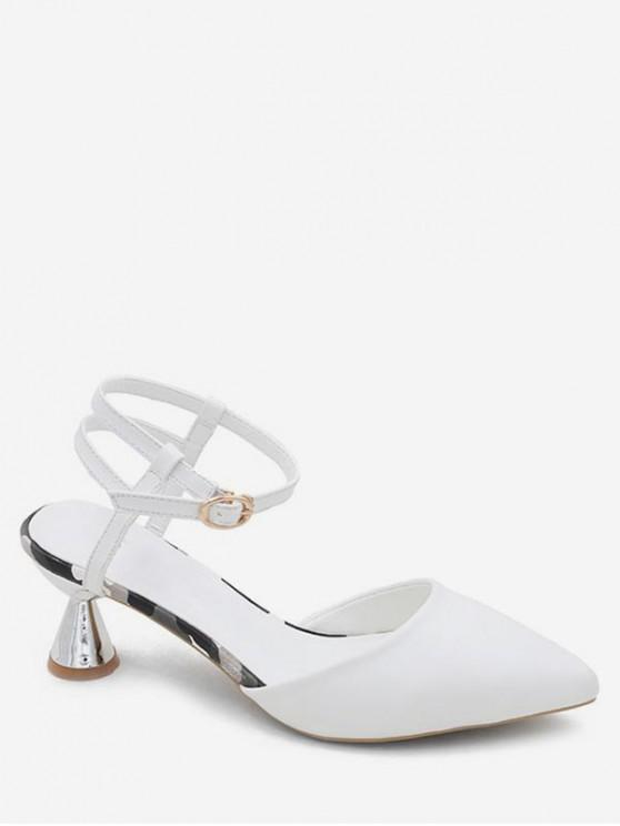 outfit Comfortable Pointed Toe Strange Heel Sandals - WHITE EU 37