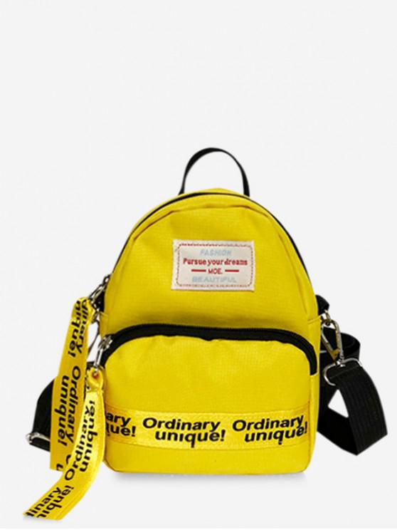 online Caracter Pattern Street Style Soft Backpack - YELLOW