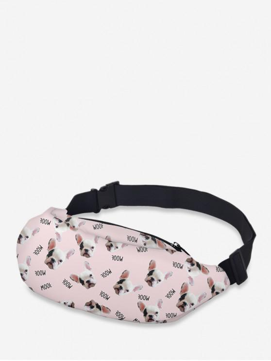 lady Crossbody Animal Print Waist Bag - PIG PINK