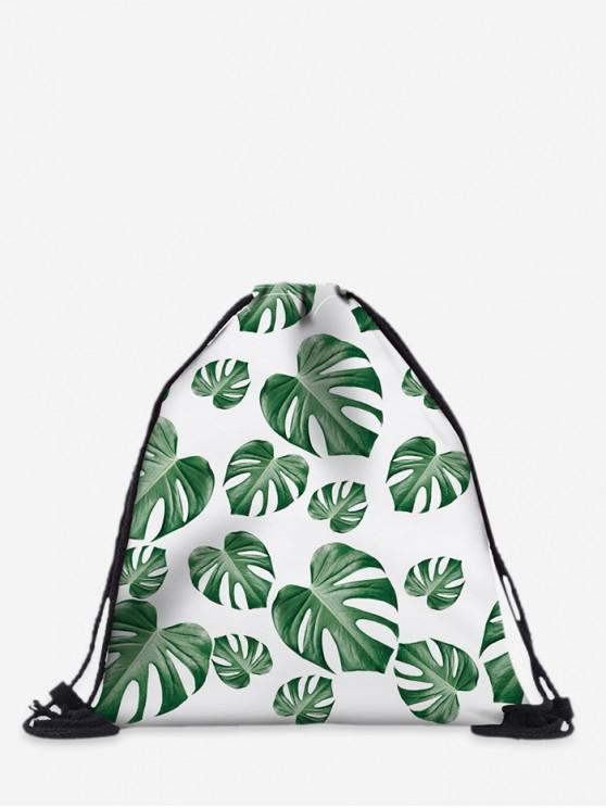 unique Polyester 3D Print String Backpack - SEA GREEN