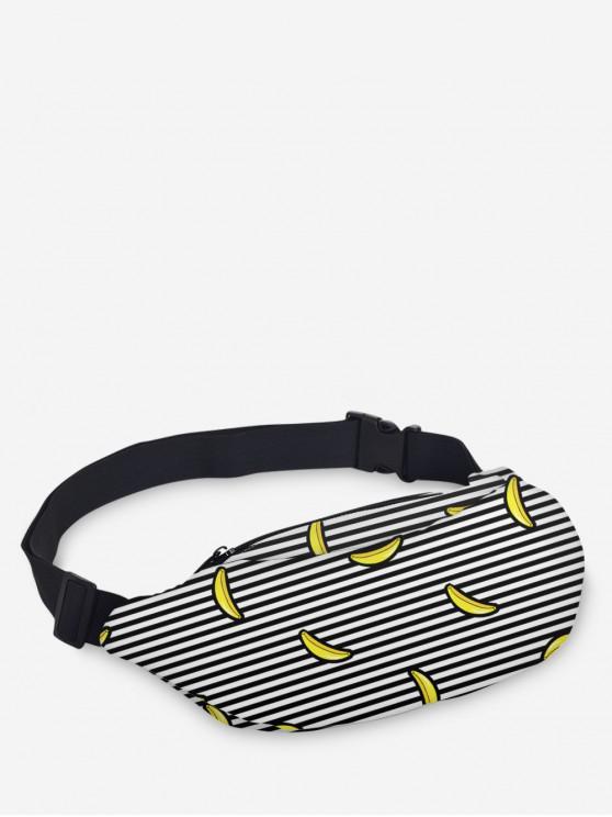 shop Adjustable Plant Print Waist Bag - SUN YELLOW