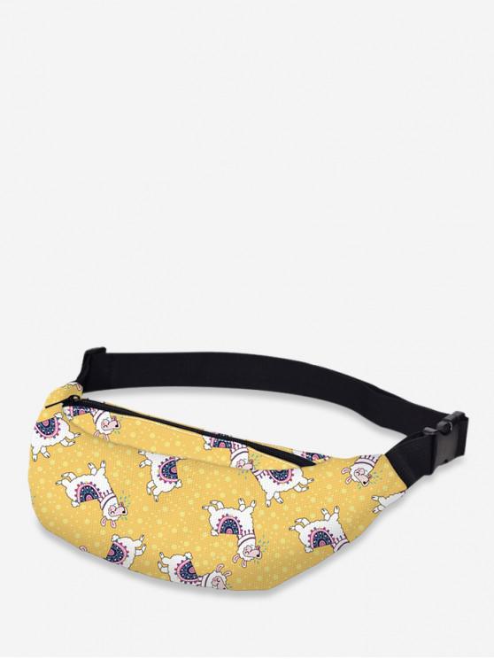 shop Crossbody Animal Print Waist Bag - SUN YELLOW