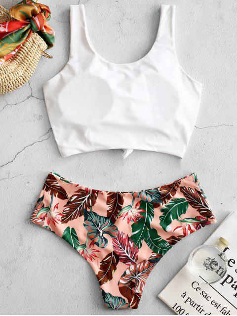 best ZAFUL Palm Knotted Mix and Match Tankini Set - MULTI-A L Mobile