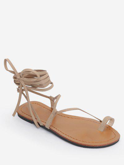 d2be7324b Flat Tie Up Gladiator Sandals - Apricot Eu 39 ...