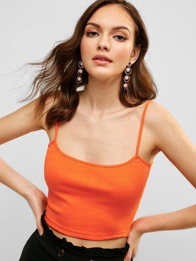 07133b757af44 Ribbed Cami Top - Orange - Orange L