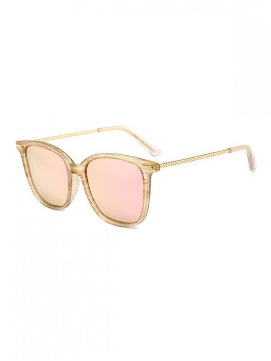 fancy Metal Square Anti UV Sunglasses - YELLOW
