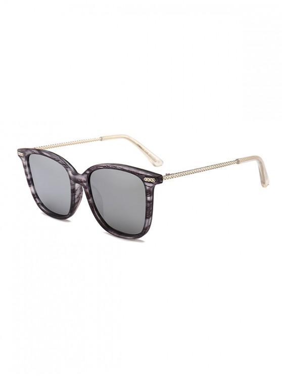 unique Metal Square Anti UV Sunglasses - GRAY