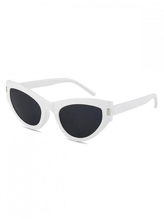 lady Kitty Eye Full Rim Sunglasses - WHITE