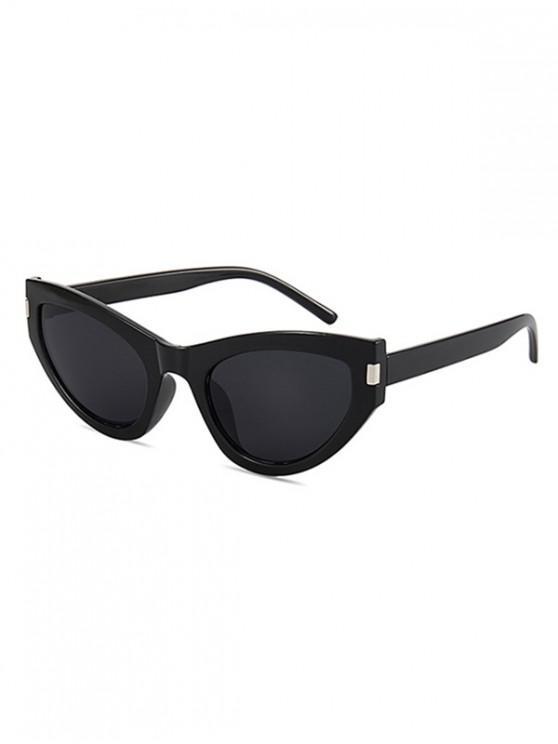 hot Kitty Eye Full Rim Sunglasses - BLACK