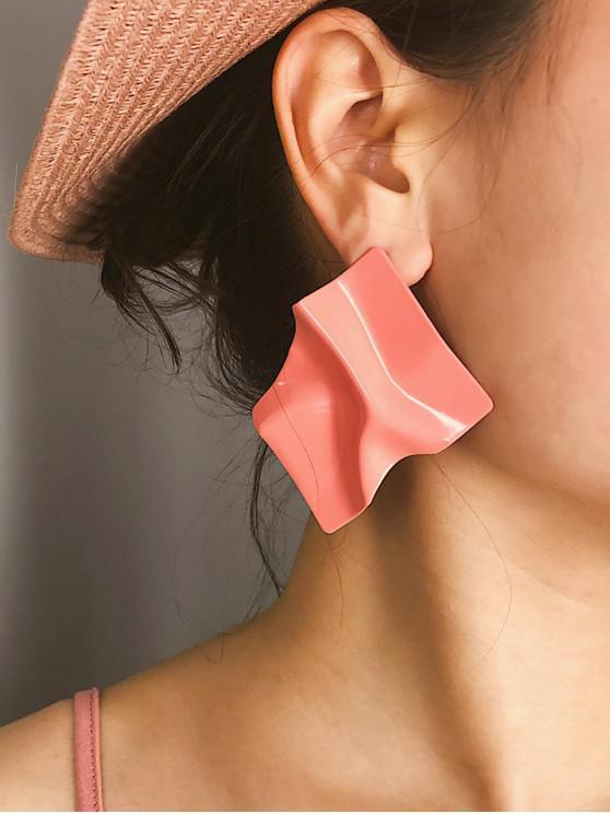 latest Irregular Drape Stud Earrings - LIGHT PINK