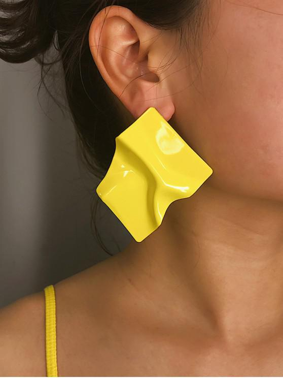 unique Irregular Drape Stud Earrings - YELLOW