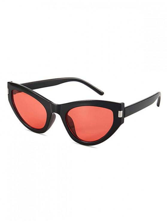 womens Kitty Eye Full Rim Sunglasses - NATURAL BLACK