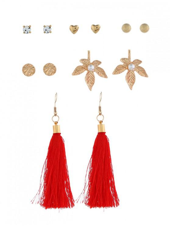 fancy 6Pairs Tassel Button Earrings Set - MULTI-A