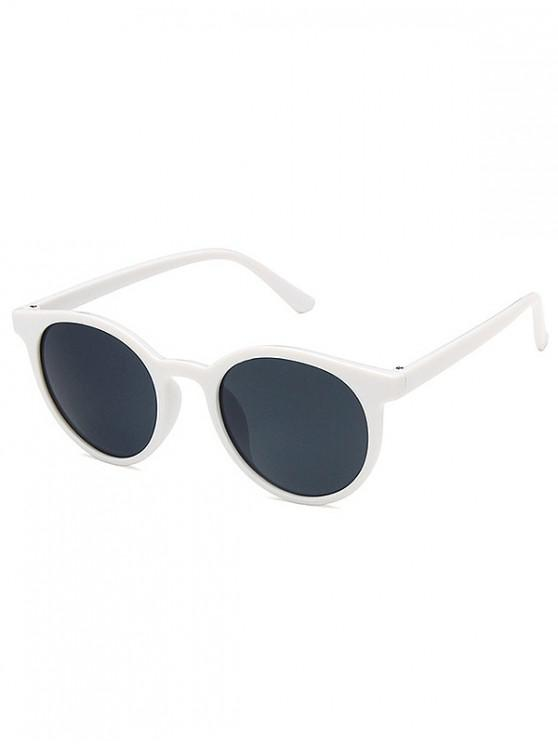 fancy Round Frame Decoration Sunglasses - WHITE