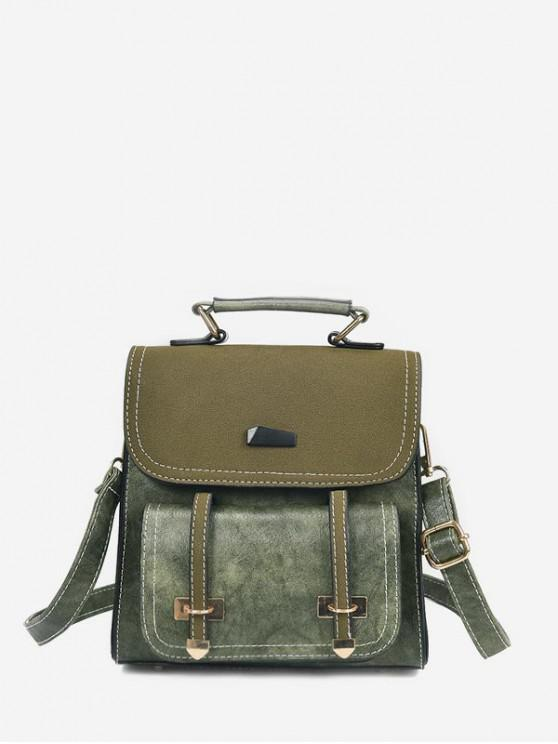 outfit Contrast Color Backpack - FERN GREEN