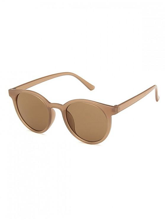 outfits Round Frame Decoration Sunglasses - BROWN SUGAR