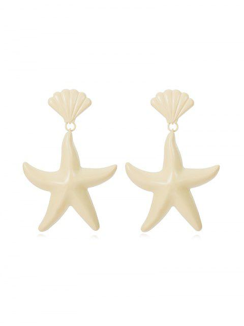 affordable Starfish Shell Candy Color Earrings - WHITE  Mobile