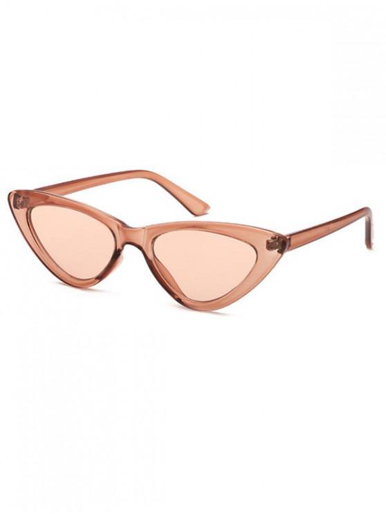 ladies Triangle Stylish Vintage Punk Sunglasses - BROWN