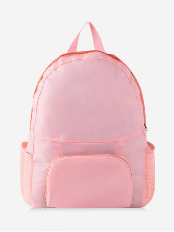 new Travel Portable Folding Nylon Backpack - PIG PINK