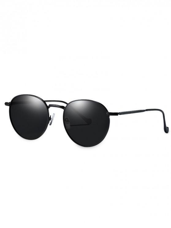 hot Metal Frame Driver Polarized Sunglasses - BLACK