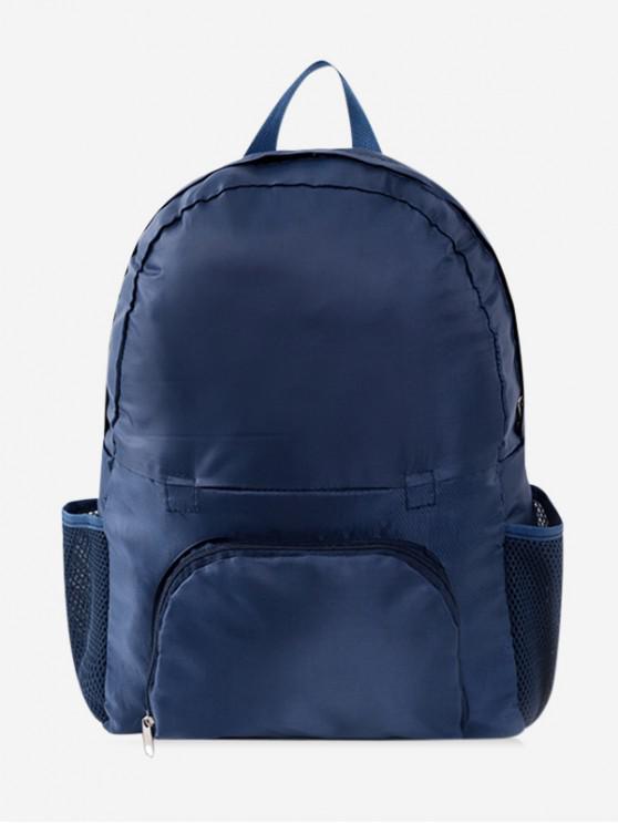 outfits Travel Portable Folding Nylon Backpack - DARK SLATE BLUE