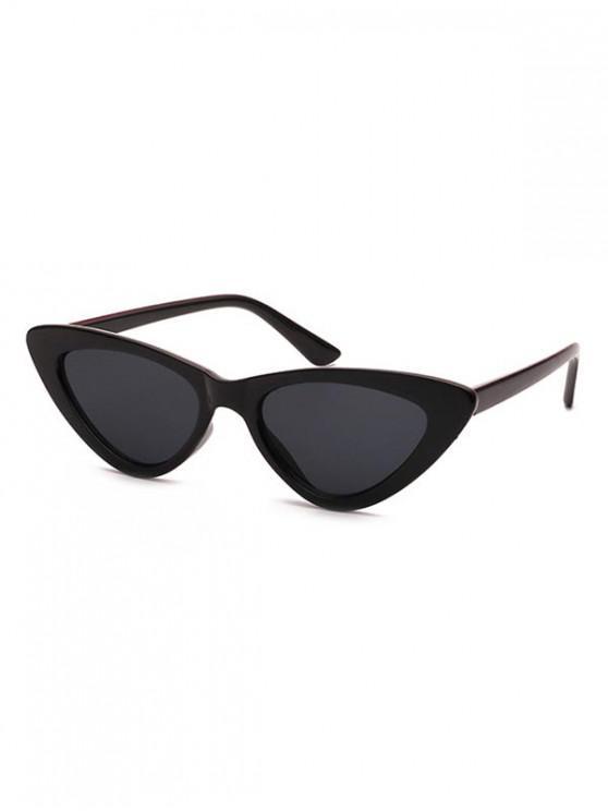 unique Triangle Stylish Vintage Punk Sunglasses - BLACK