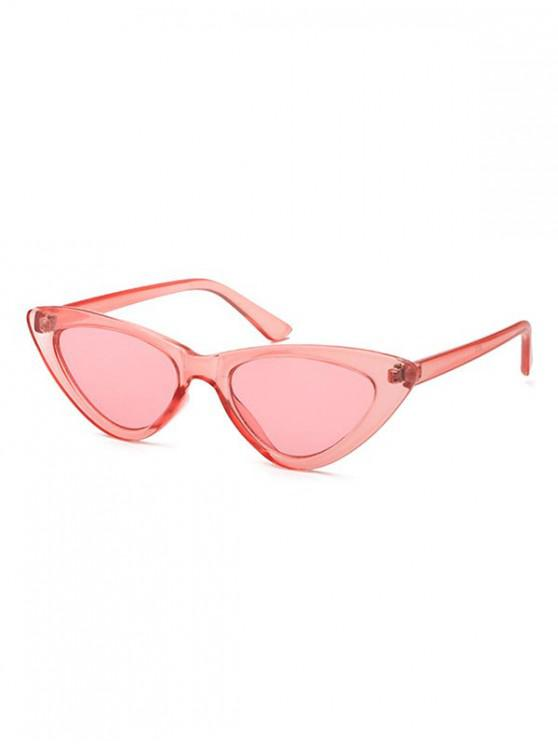 lady Triangle Stylish Vintage Punk Sunglasses - LIGHT PINK