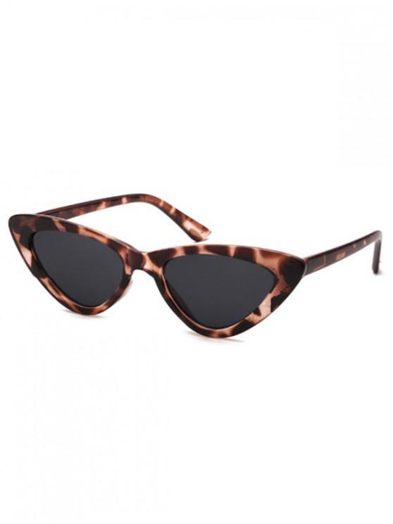 outfits Triangle Stylish Vintage Punk Sunglasses - LEOPARD