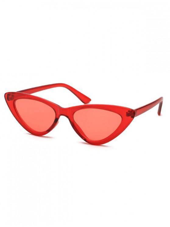 shops Triangle Stylish Vintage Punk Sunglasses - RED