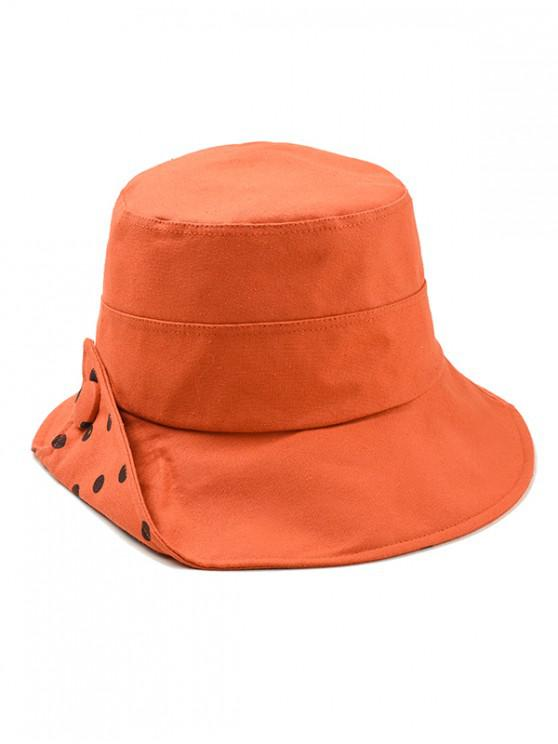 fancy Polka Dot Cotton Bucket Hat - ORANGE