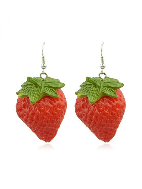 online Cute Strawberry Earrings - RED