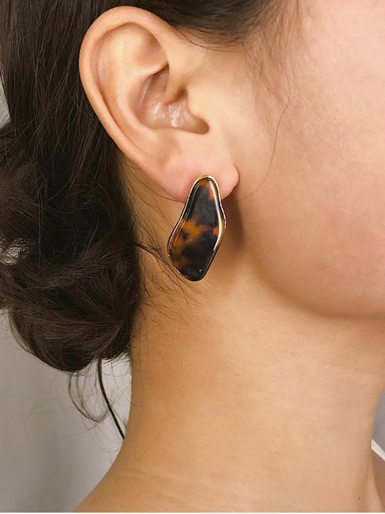 outfit Leopard Pattern Geometric Earrings - MULTI-A