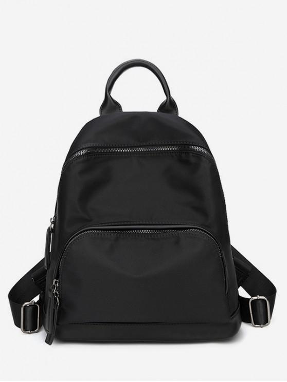 outfits Simple Oxford Cloth Travel Backpack - BLACK