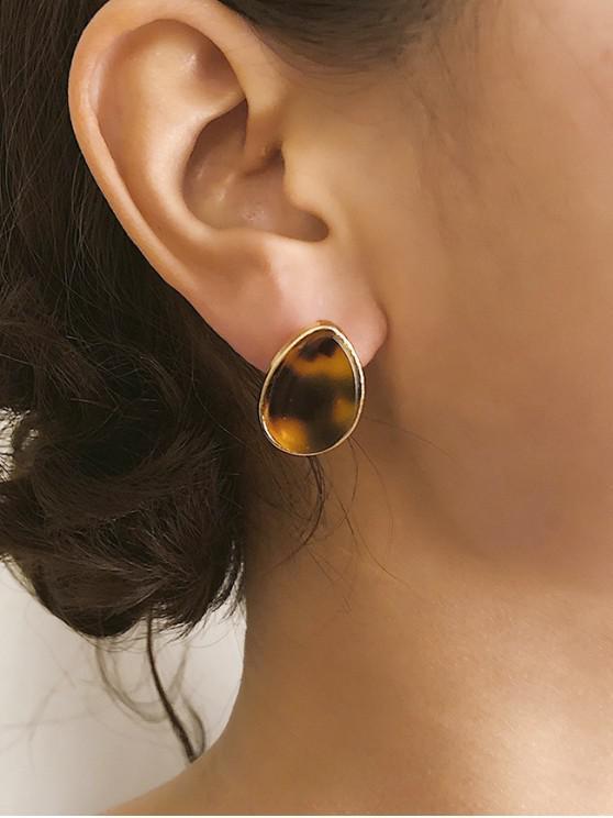 fancy Leopard Pattern Geometric Earrings - MULTI-B