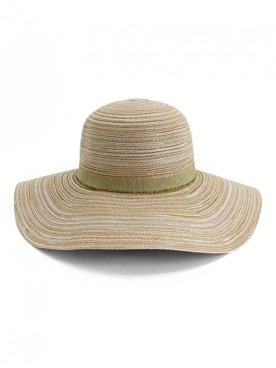 women Wide Brim Striped Folding Beach Hat - PINK