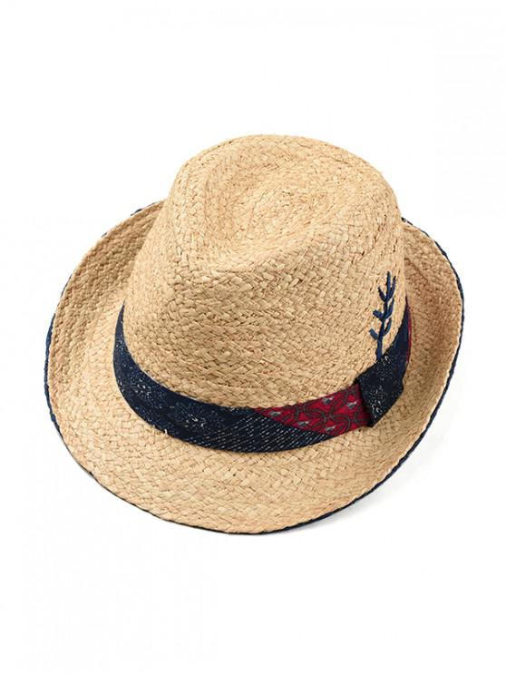shop Tree Decor Weave Jazz Straw Hat - CADETBLUE