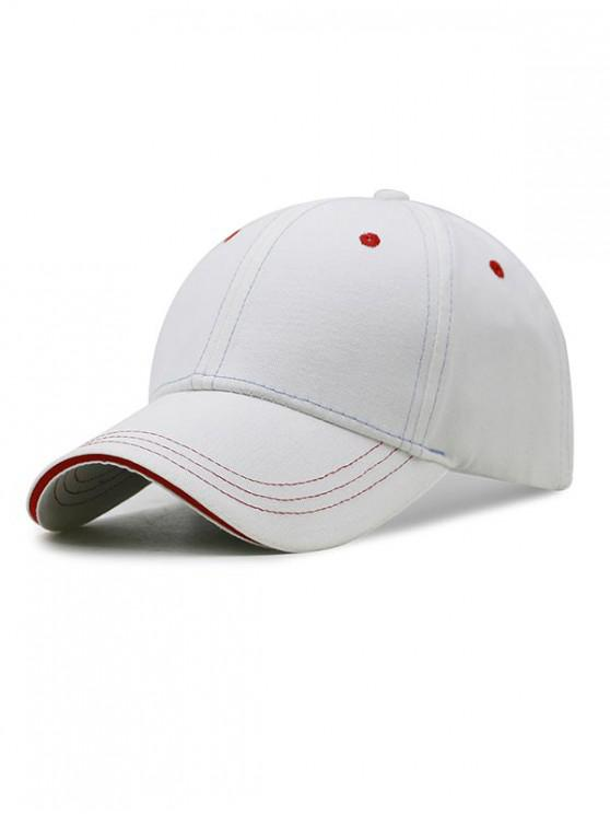 best Adjustable Cotton Baseball Cap - WHITE