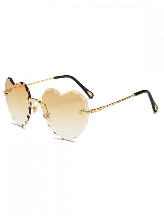 sale Rimless Wavy Heart Sunglasses - GOLDENROD REGULAR