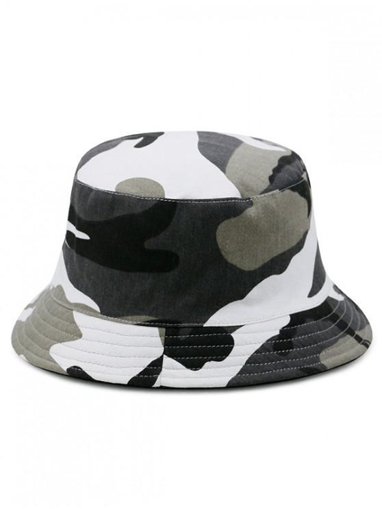 Bonnet Seau Motif de Camouflage en Coton - Multi-I