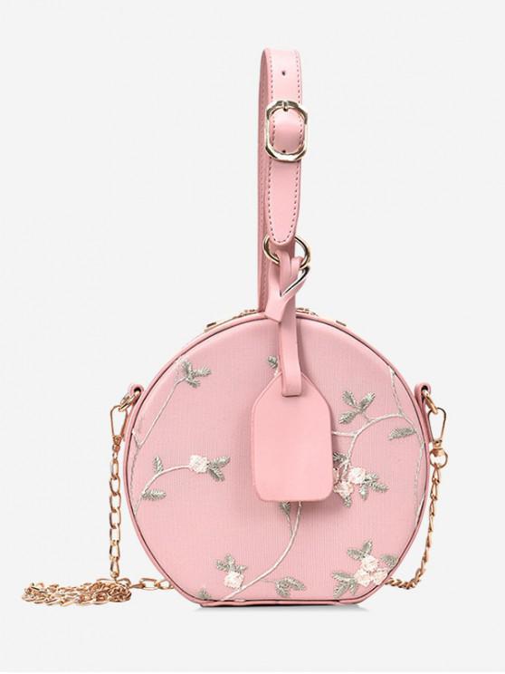 women's Lace Flower Canteen Handbag - PINK
