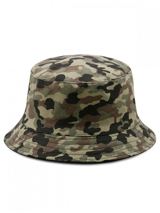 ladies Cotton Disruptive Pattern Bucket Hat - MULTI-L