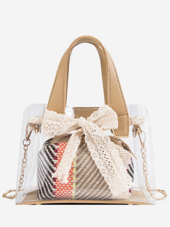sale Sweet Bow Transparent Tote Bag - ACU CAMOUFLAGE
