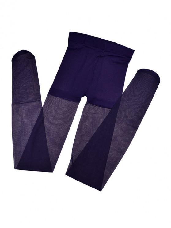 women's Breathable Transparent Elastic Pantyhose - PURPLE IRIS
