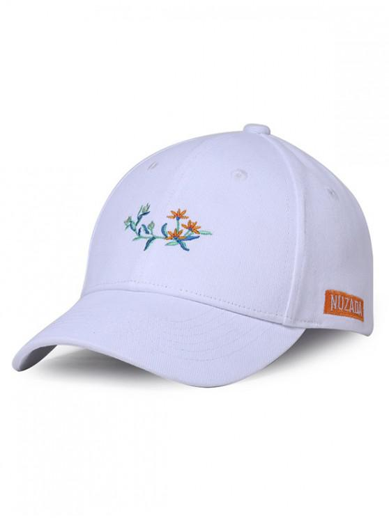 6e596a1b9c87d 22% OFF  2019 Embroidered Floral Baseball Cap In WHITE