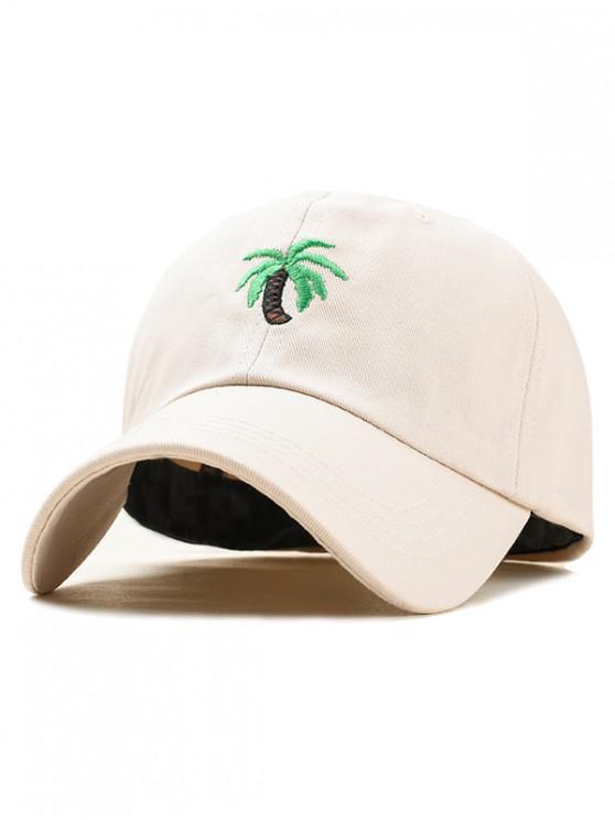 new Embroidery Coconut Tree Baseball Cap - BEIGE