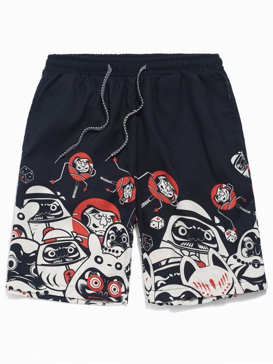 Pantalones cortos de playa con cordón ajustable - Multicolor S